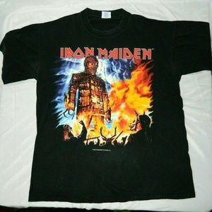 Iron Maiden 2000 Brave New World Tour T Shirt XL